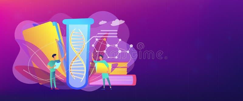 De genetische het testen kopbal van de conceptenbanner royalty-vrije illustratie