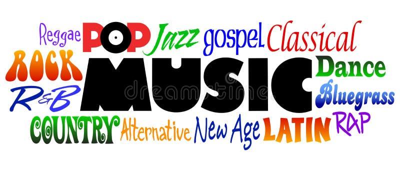 De Genres van de muziek stock illustratie