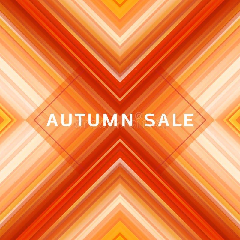 De geometrische abstracte achtergrond van de verkoopbanner, het sociale media ontwerp van de verkoop futuristische affiche royalty-vrije illustratie