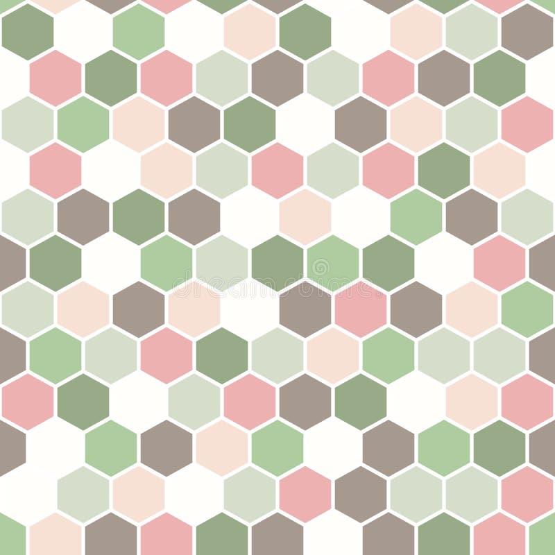 De geometrische achtergrond maakte uit zeshoeken in diverse kleuren/de retro hexagon achtergrond/de Zeshoeken royalty-vrije illustratie