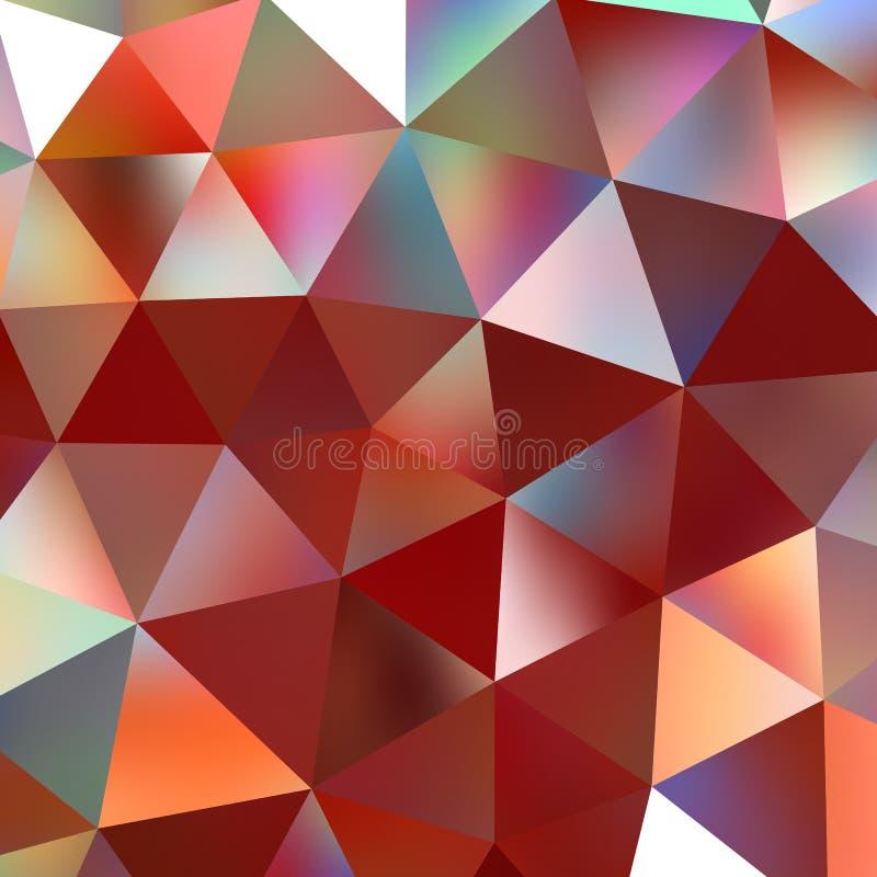 De geometrische achtergrond van het driehoeksmozaïek vector illustratie