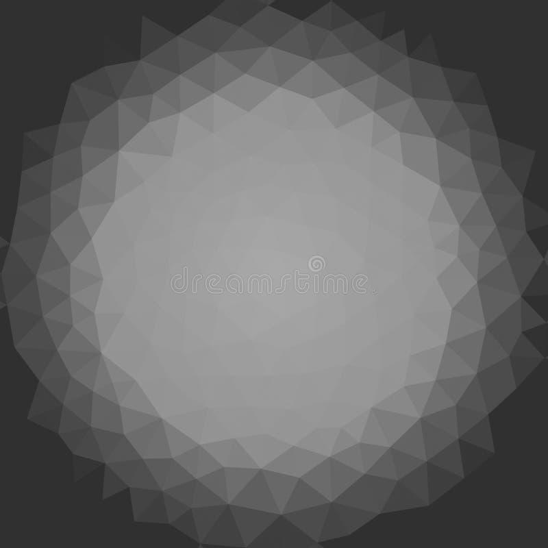 De geometrische achtergrond van het driehoeksmozaïek stock illustratie