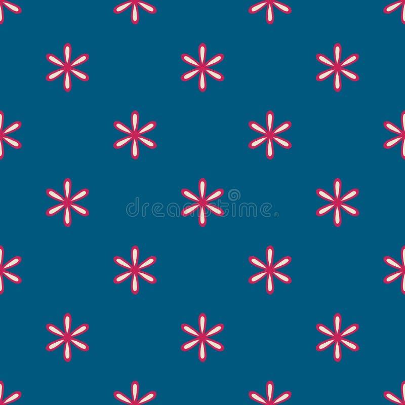De geometrische bloem bloeit naadloze patroonachtergrond stock illustratie