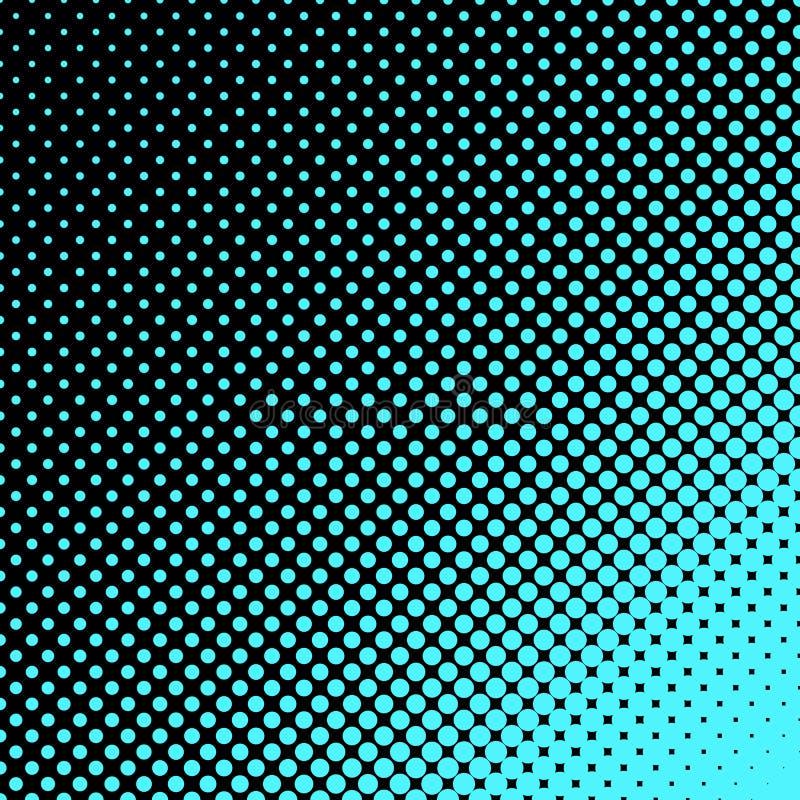 De geometrische halftone achtergrond van het puntpatroon - vector grafisch ontwerp van cirkels royalty-vrije illustratie