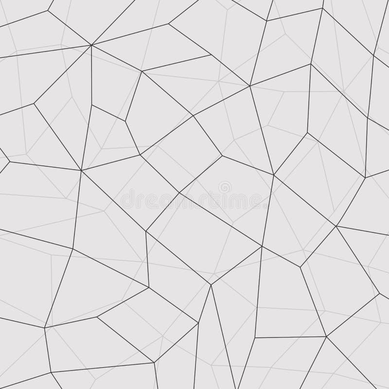 De geometrische mozaïekachtergrond, verbindt lijnen Vector illustratie vector illustratie