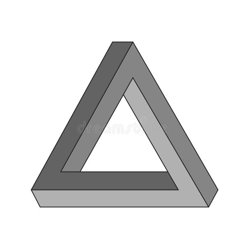De geometrische optische illusie van de Penrosedriehoek royalty-vrije illustratie