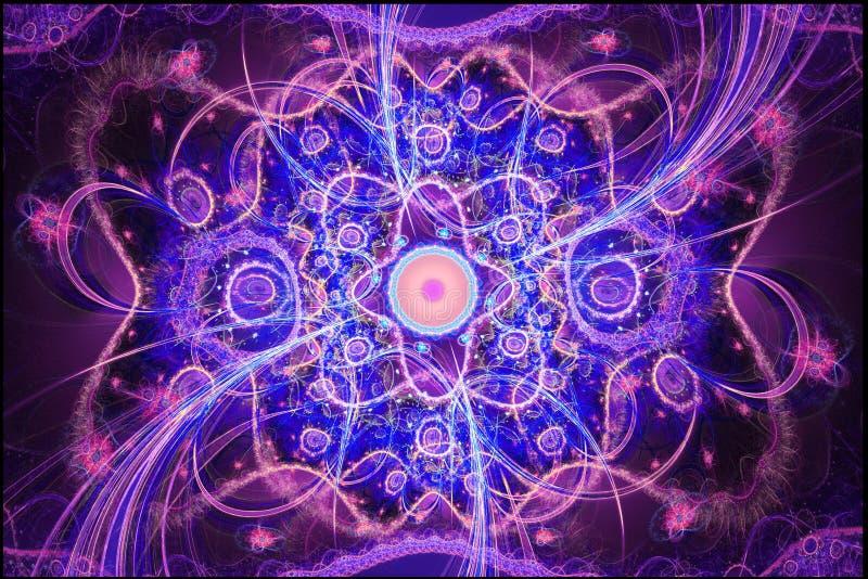 De geometrische patronen kunnen de psychedelische ruimtedromen van de dagdromenverbeelding en magisch heelal illustreren vector illustratie