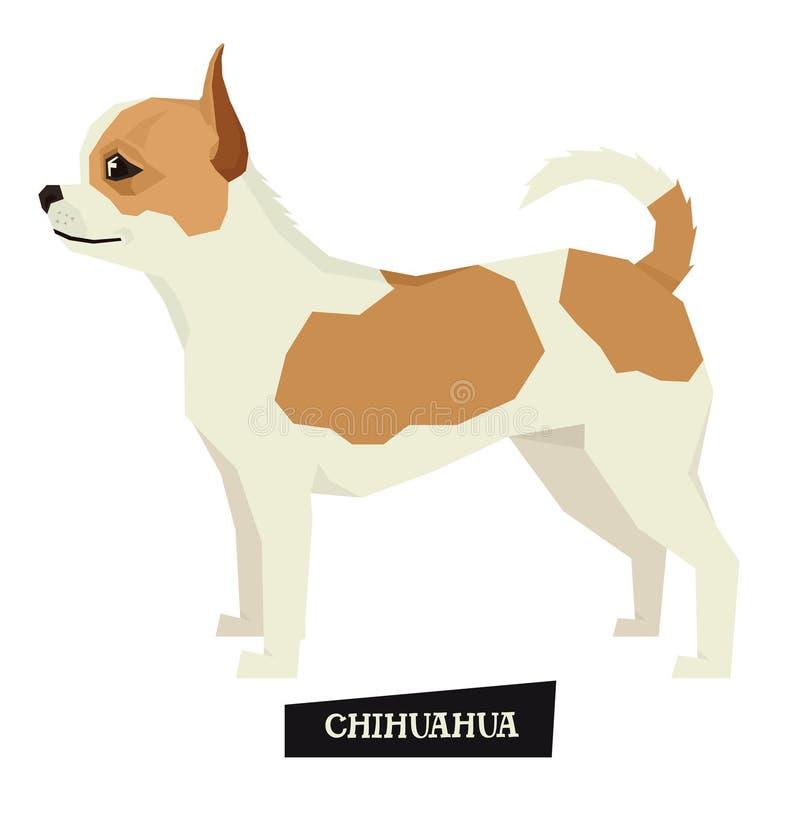 De Geometrische stijl van Chihuahua van de hondinzameling stock illustratie