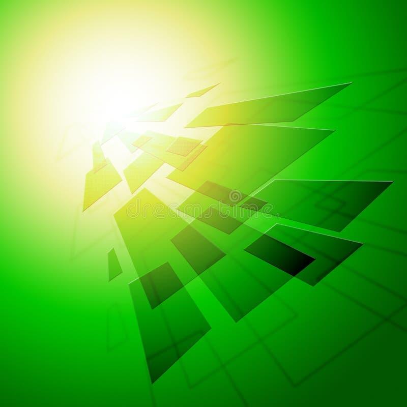 De geometrische Stijlachtergrond betekent Digitaal Tegelsbehang royalty-vrije illustratie