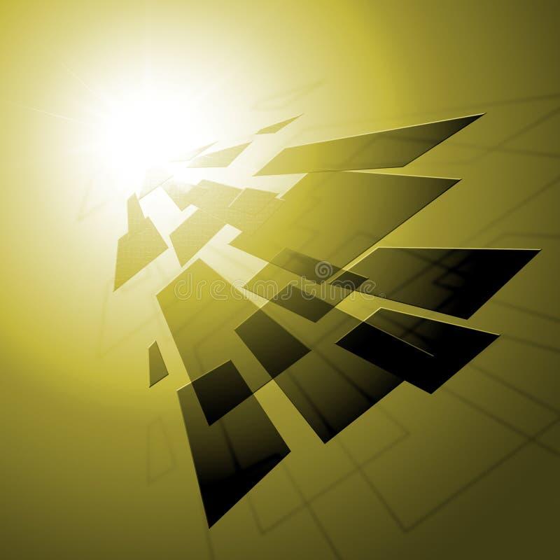 De geometrische Stijlachtergrond toont Betegeld Patroon of Moderne Wallpap vector illustratie
