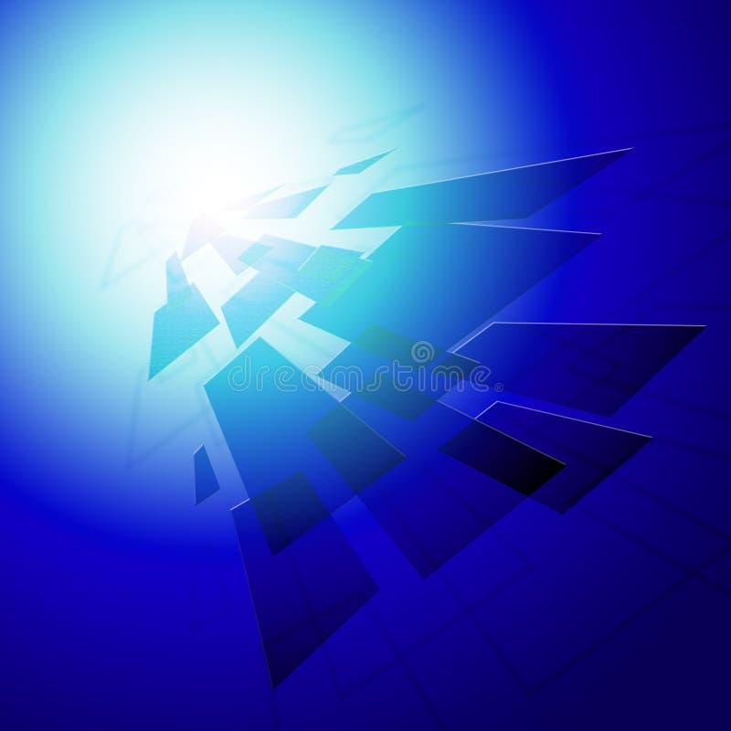 De geometrische Stijlachtergrond toont Modern Digitaal Art Or Design royalty-vrije illustratie