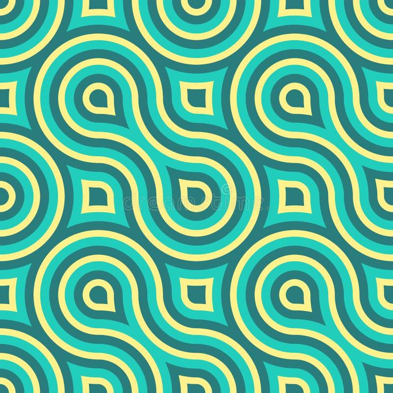 Download Geometrisch Naadloos Patroon Vector Illustratie - Illustratie bestaande uit vector, krommen: 30129031