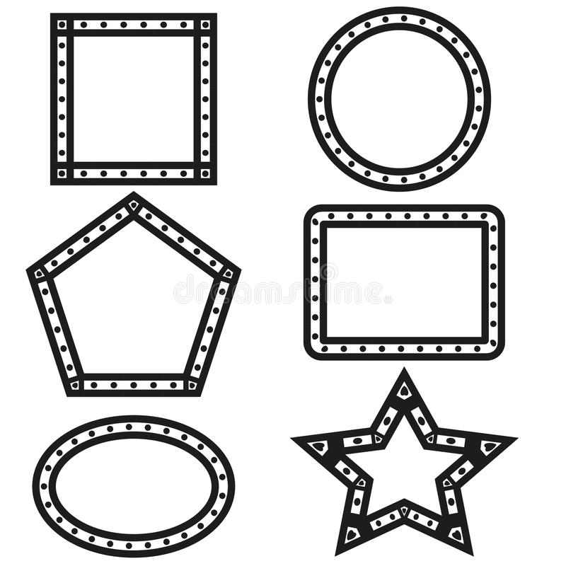 De geometrische vector van het vormenontwerp royalty-vrije stock foto's