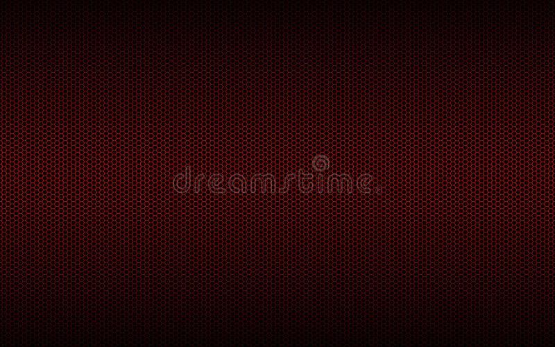 De geometrische veelhoekenachtergrond, vat rood metaalzeshoekenbehang samen royalty-vrije illustratie