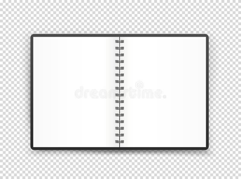 De geopende illustratie van de boekpagina Purper nagellak met zilveren GLB op een witte achtergrond stock illustratie