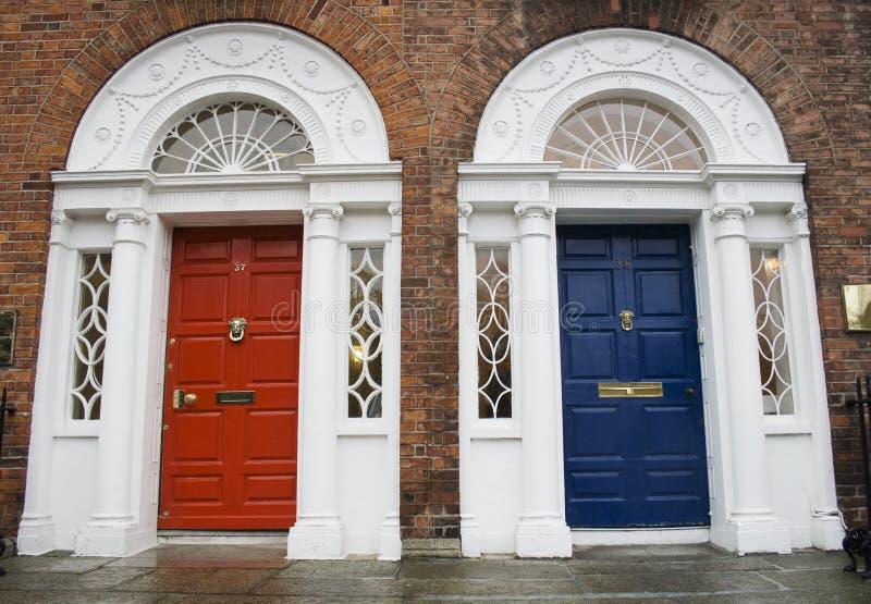 De Georgische deuren van Dublin stock foto