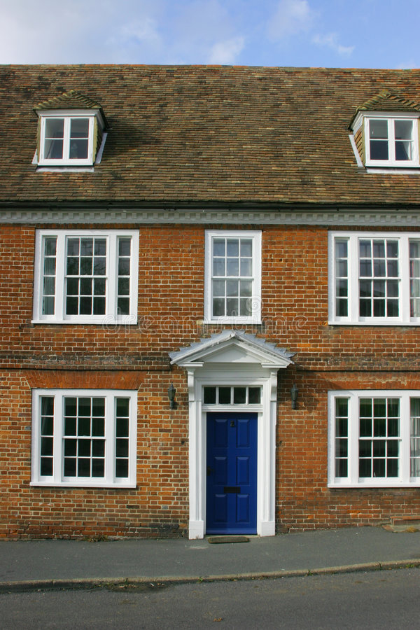 De Georgische voorzijde van het Huis stock foto