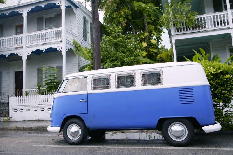 De geparkeerde bestelwagen van Key West wijnoogst in Zuid-Florida stock afbeeldingen