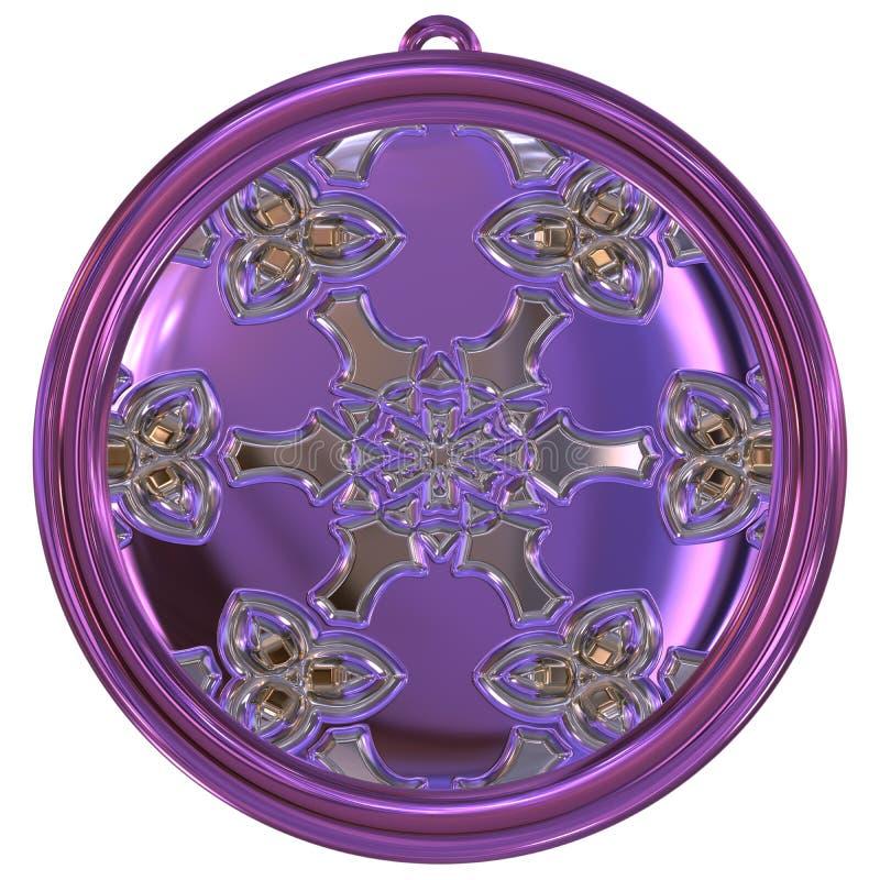 Download De Geproduceerde Textuur Van Het Jewelledmetaal Orb Stock Illustratie - Illustratie bestaande uit procedure, medaille: 54085819