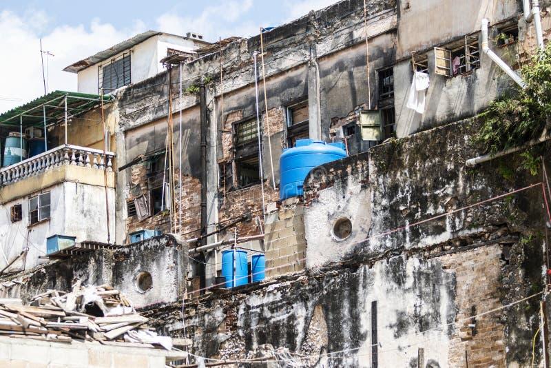 De gereduceerde bouw in Havan Cuba royalty-vrije stock fotografie