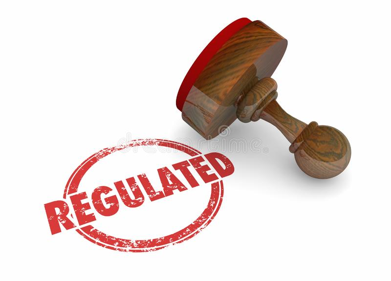 De geregelde Zegel beslist Wettenverordeningen stock illustratie