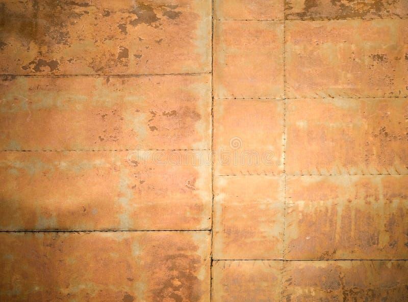 De geroeste textuur van de metaalmuur stock afbeelding