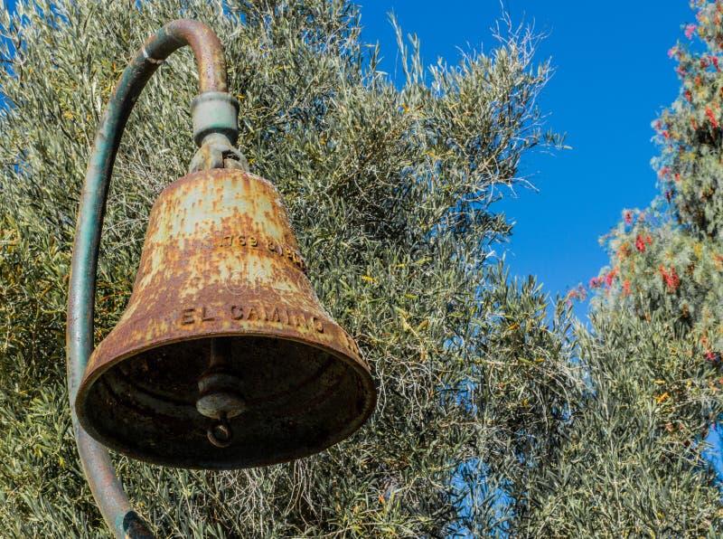 De geroeste uitstekende Echte klok van Gr Camino stock fotografie