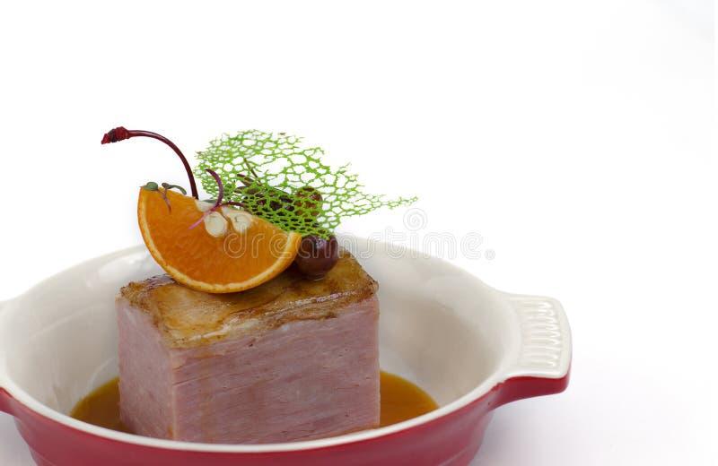 De gerookte filet van het varkensvleeslendestuk royalty-vrije stock fotografie