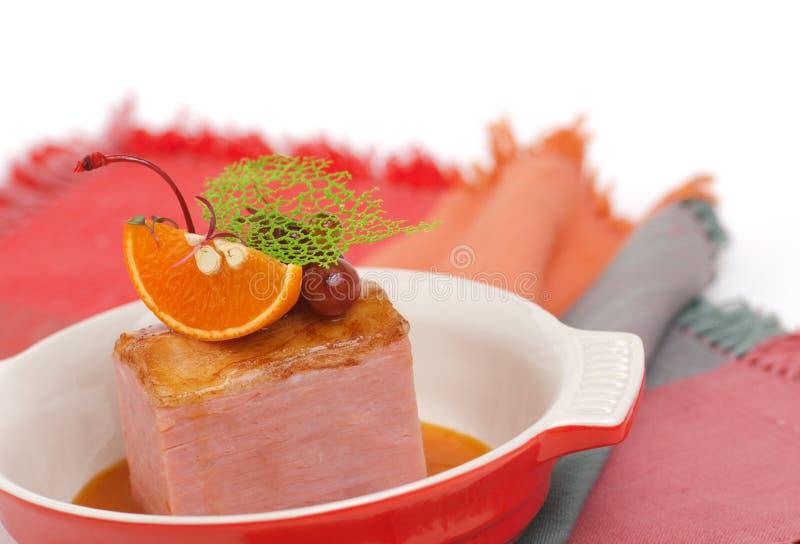 De gerookte filet van het varkensvleeslendestuk royalty-vrije stock afbeeldingen