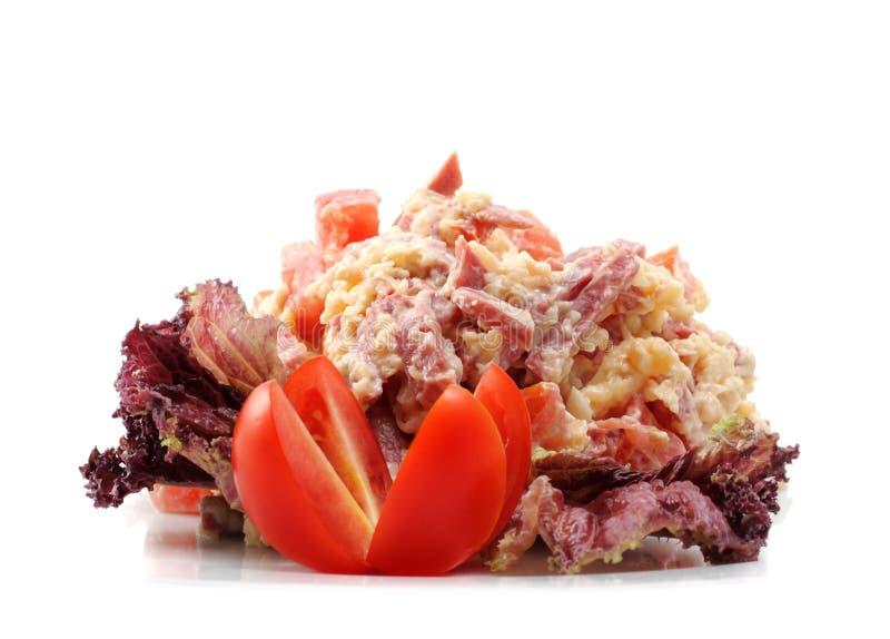 De gerookte Salade van het Voedsel stock foto