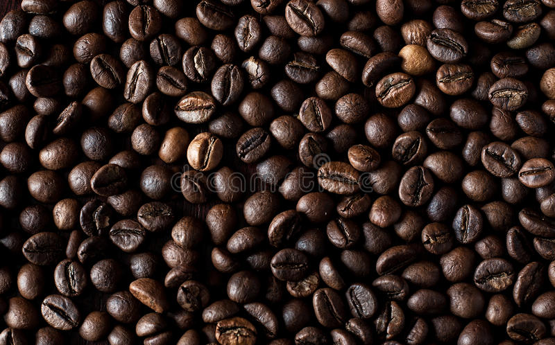 De geroosterde achtergrond van espressobonen royalty-vrije stock foto
