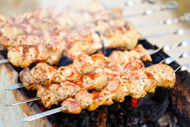 Download De Geroosterde Barbecue Van De Kaukasus Stock Foto - Afbeelding bestaande uit picknick, brand: 39100350