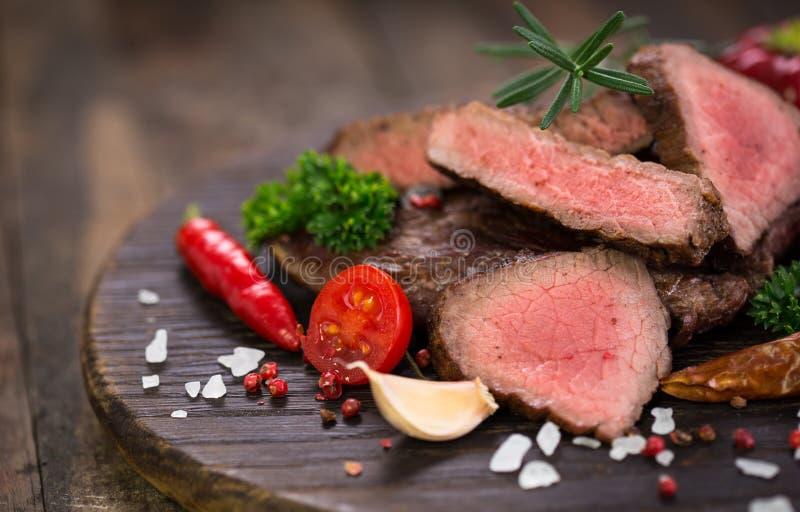 De geroosterde Lapjes vlees van het Rundvlees stock fotografie
