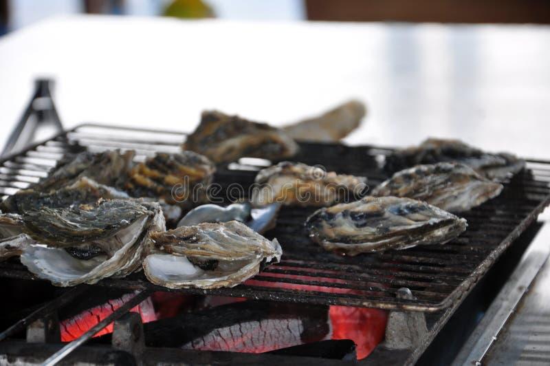 De geroosterde oester stock foto