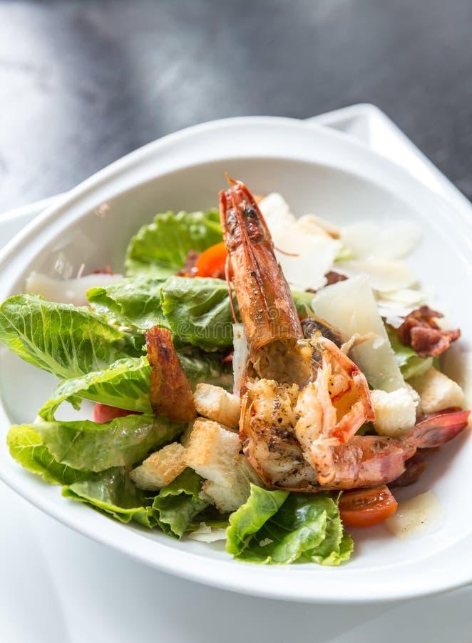De geroosterde salade van de tijgergarnaal royalty-vrije stock afbeeldingen