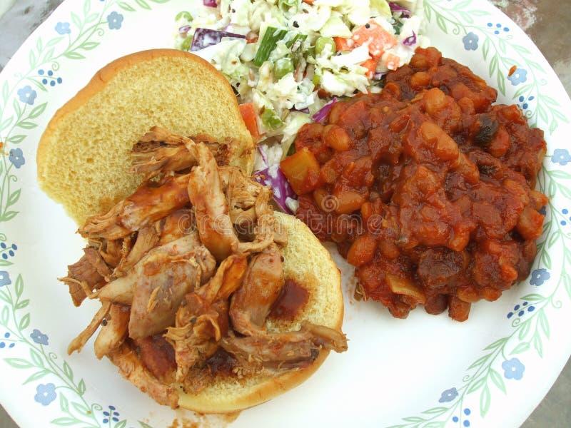 De geroosterde Sandwich van de Kip stock afbeelding