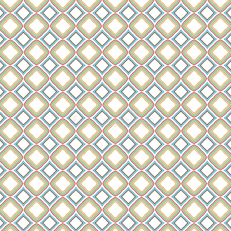 De geruite Retro Rond gemaakte Kleur van Kubustegels regelt Geometrisch Patroon vector illustratie