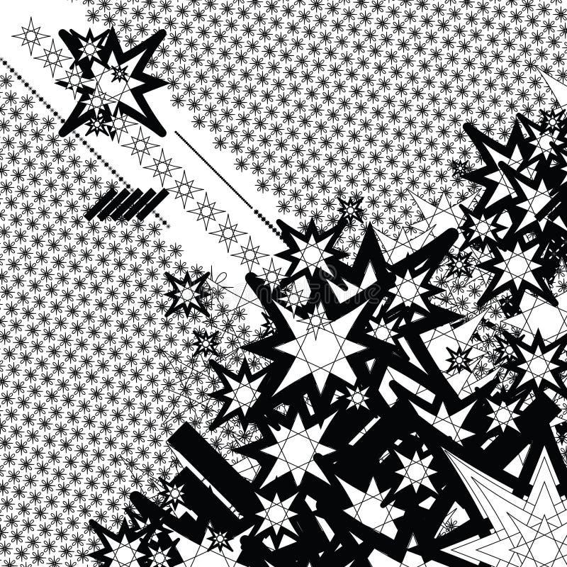 De geschetste ster van het eb stroom vector illustratie