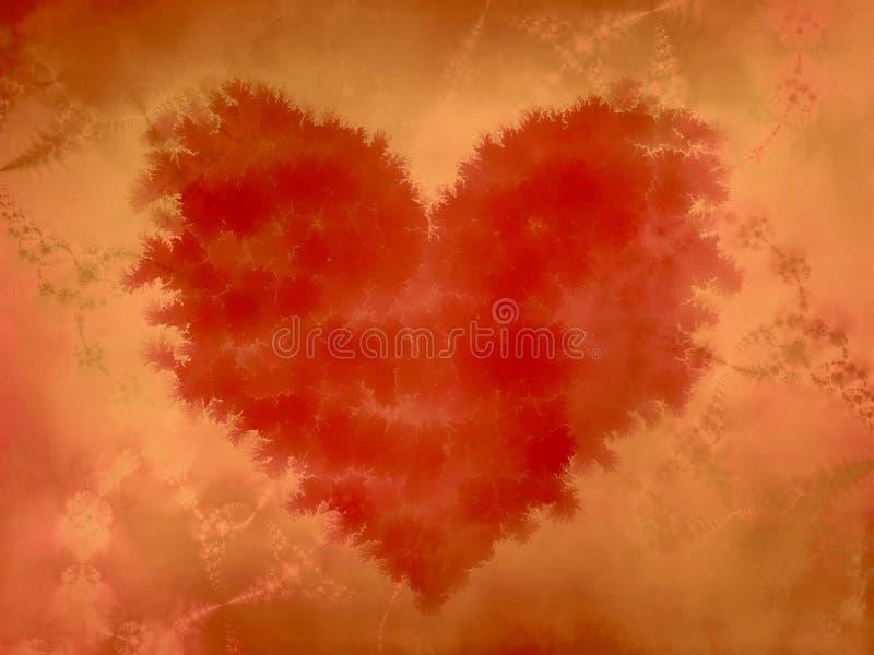 De gescheurde Scherpe Rode Textuur van het Hart vector illustratie