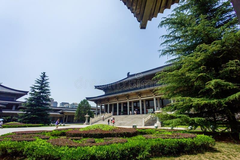 De Geschiedenismuseum van China Shaanxi stock fotografie