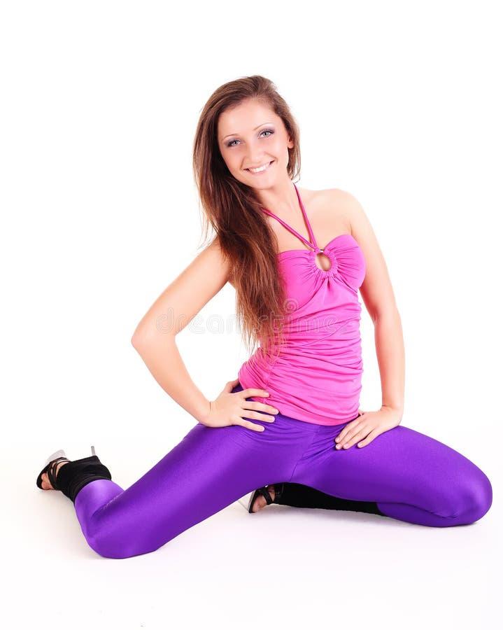 De geschiktheidsvrouw van de aerobics royalty-vrije stock foto