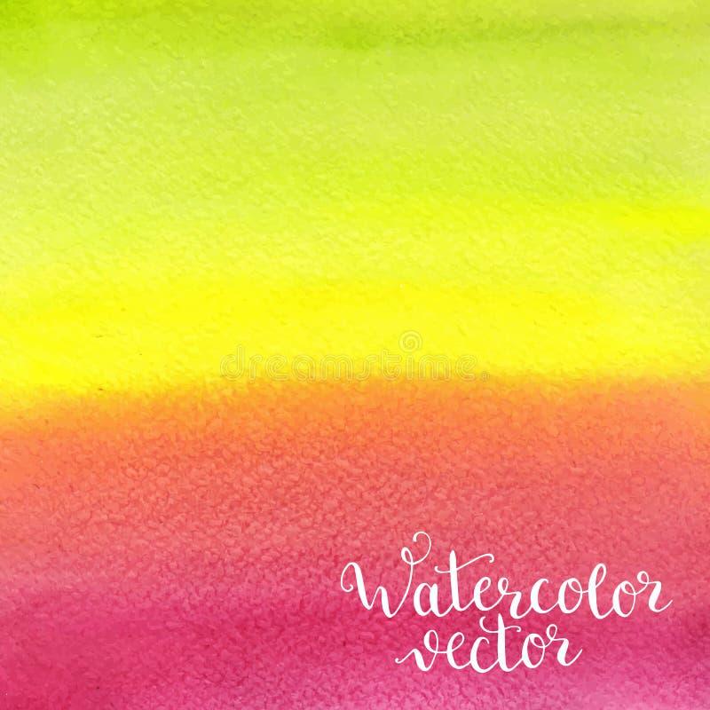 De geschilderde achtergrond van de waterverf hand stock illustratie