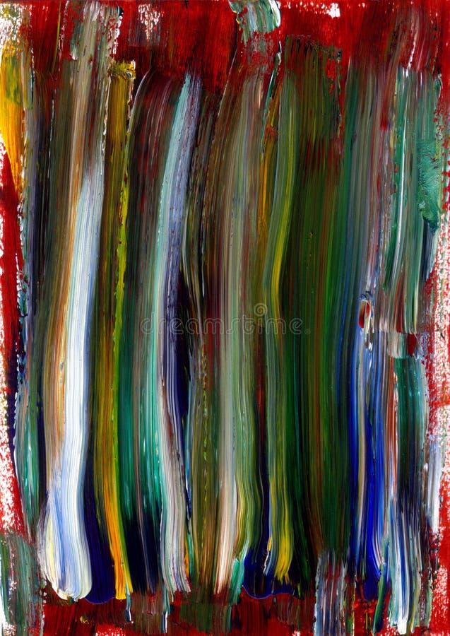 De geschilderde Elementen van de Textuur van het Canvas royalty-vrije illustratie