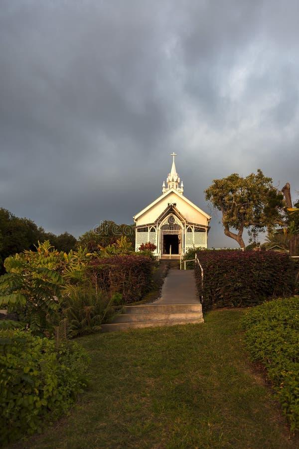 De geschilderde Kerk stock afbeeldingen
