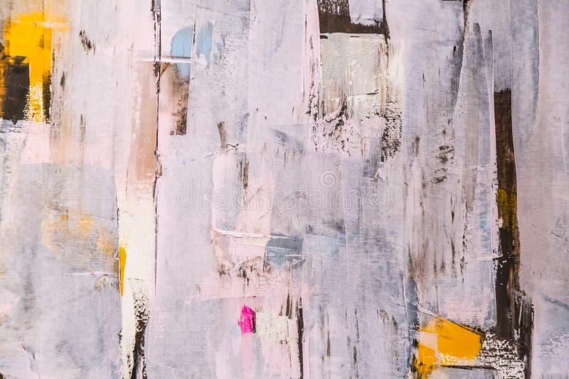 De geschilderde Textuur van het Canvas royalty-vrije stock fotografie