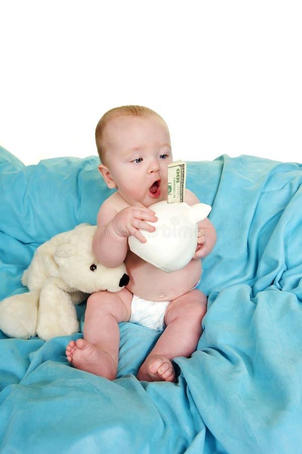 De geschokte Jongen van de Baby stock fotografie