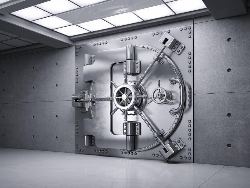 De gesloten Deur van de Bankkluis royalty-vrije illustratie