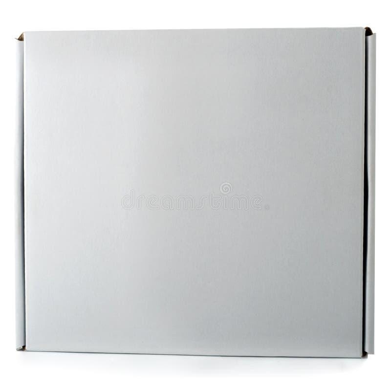 De gesloten doos van de kartonpizza stock foto