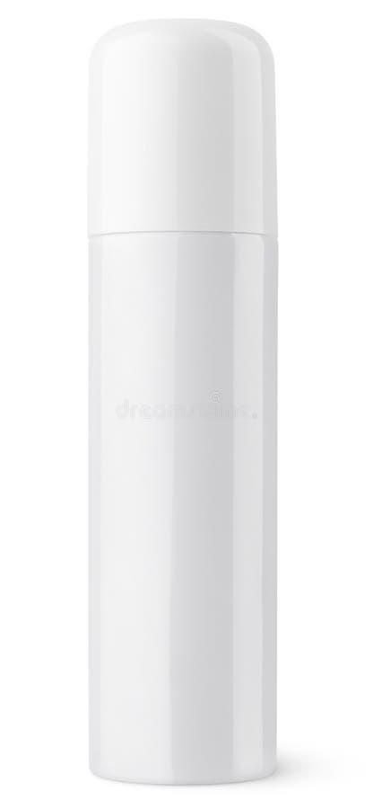 De gesloten witte het metaalfles van de aërosolnevel kan royalty-vrije stock afbeelding
