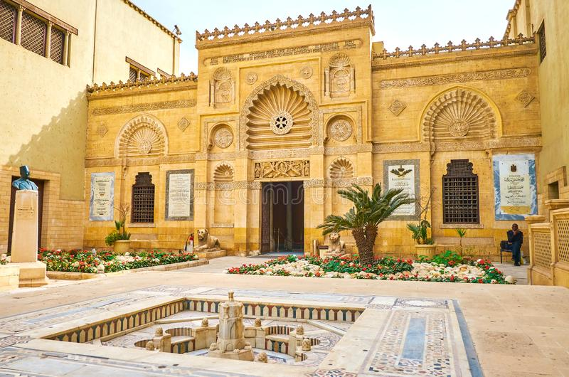 De gesneden decoratie van Koptisch Museum, Kaïro, Egypte stock afbeelding
